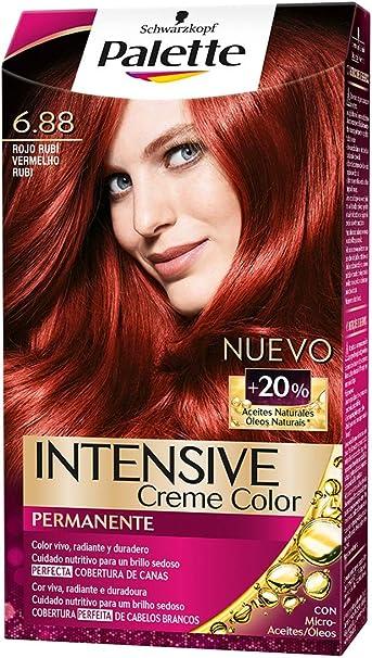 Palette Intense Color Cream Coloración Permanente, Tono 6.88 ...