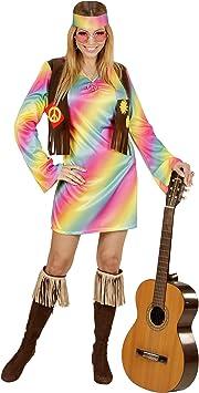 WIDMANN 73353 ? Adultos Disfraz Hippie Mujer, Vestido ...