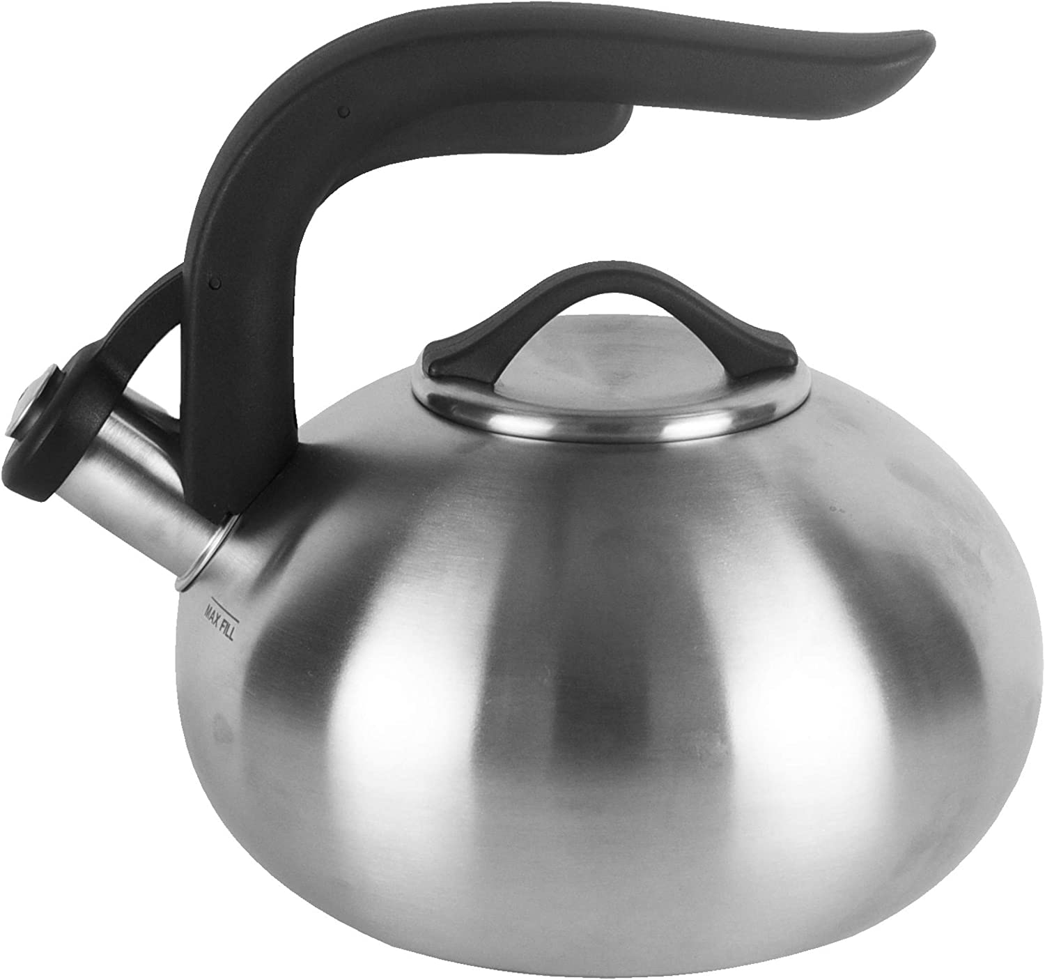 Copco 5216825 Arc Brushed Tea Kettle, 1.8 quart, Stainless Steel