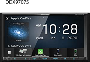 "Kenwood DDX9707S 6.95"" Capacitive Touch Screen DVD Multimedia Receiver with Apple CarPlay & Android Auto"