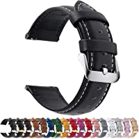 12 Colors for Quick Release Leather Watch Band, Fullmosa Axus Genuine Leather Watch Strap 14mm, 16mm, 18mm, 20mm, 22mm…