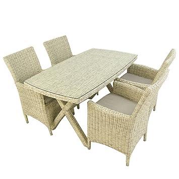 Conjunto Muebles jardín | Mesa 140x80 cm y 4 sillones ...