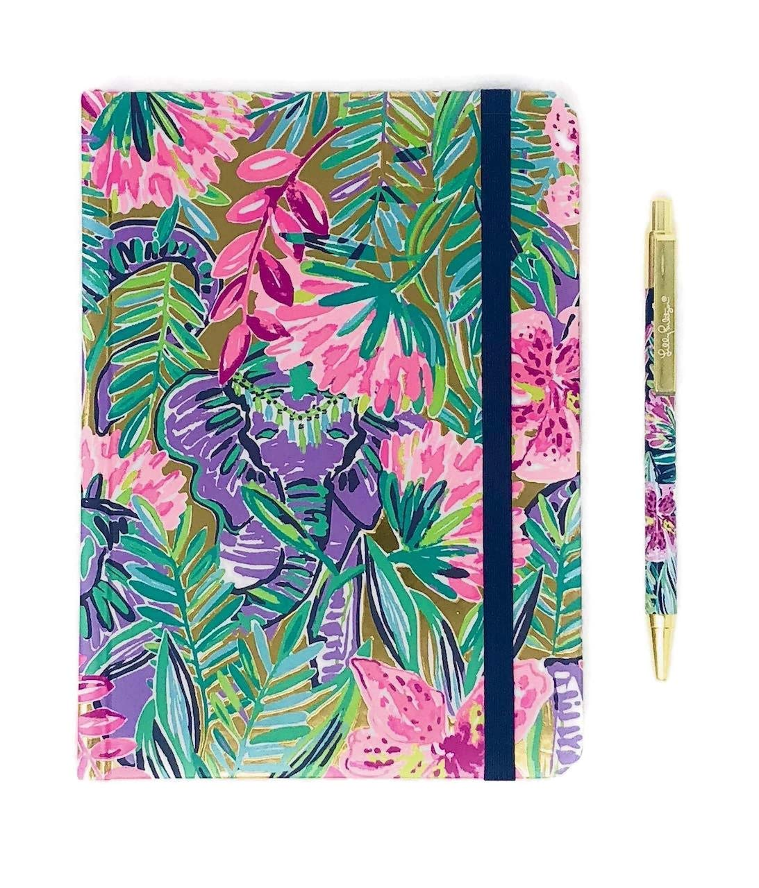 Lilly Pulitzer Journal With Pen (Slathouse Soiree)