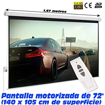 Pantalla de proyeccion electrica Luxscreen 72