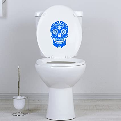 Black StickAny Bathroom Decal Series Scary Dead Tree Sticker for Toilet Bowl Bath Seat