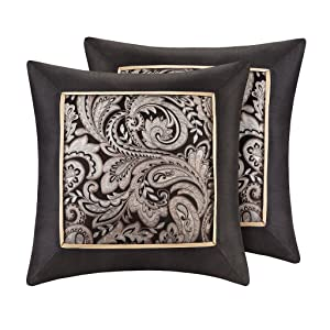 Madison Park MP30-1538 Normal Pillow, 20x20, Black