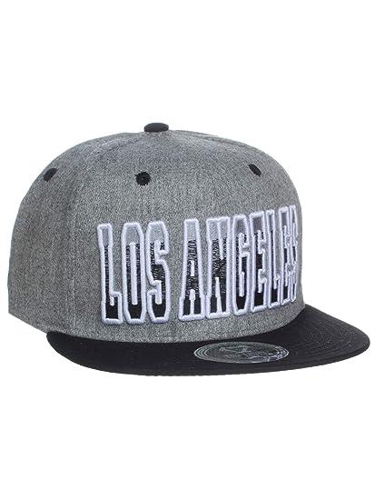 d59b51dd67253 American Cities Los Angeles Block Letters Flat Bill SnapBack Cap Hat Snap  Back