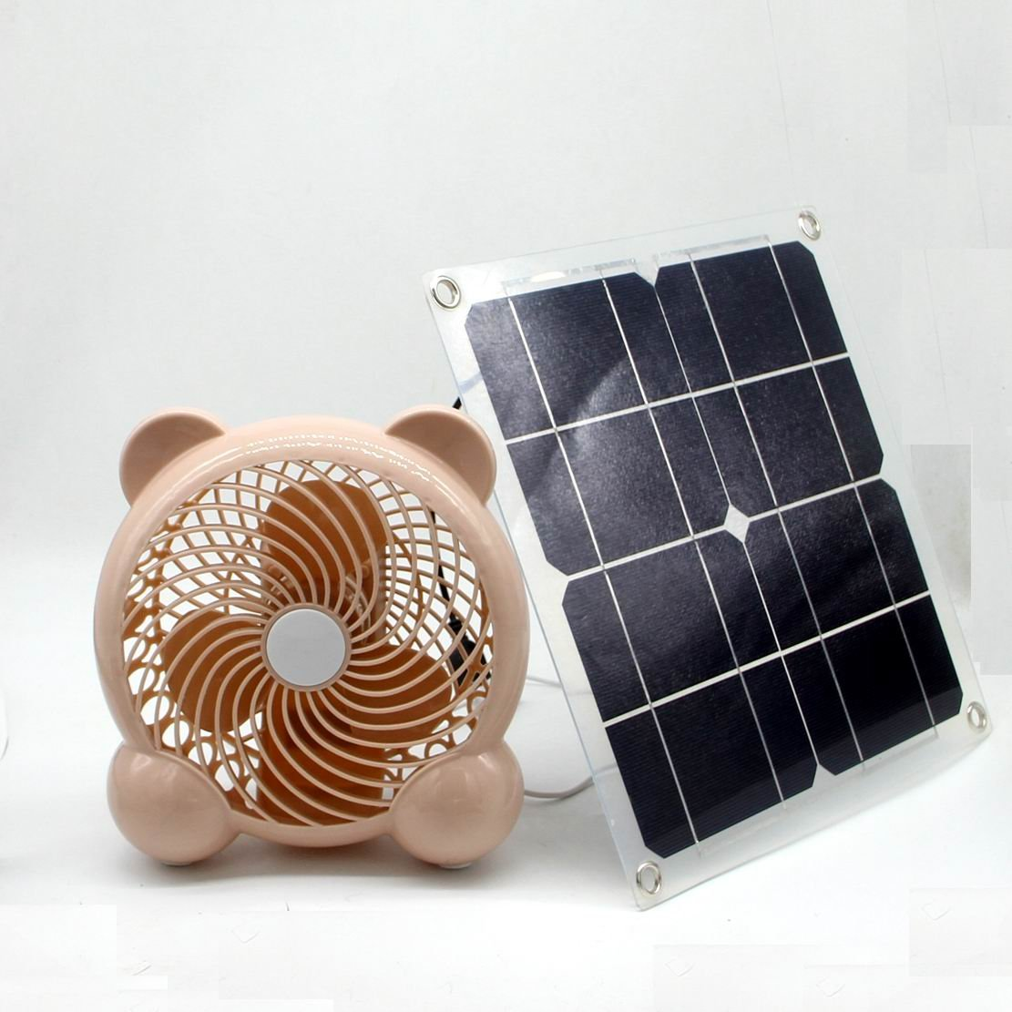 solar fan 10w 7inch Fan Powered Outdoor Home Cooling Care Garten Ventilation