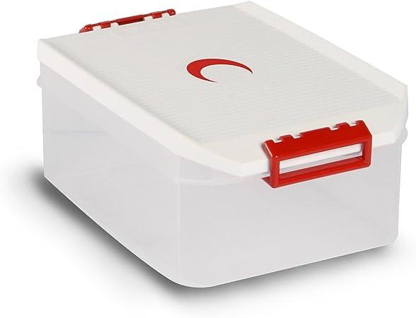 Tatay 1150210 Caja de Almacenamiento Multiusos con Tapa 4.5l de Capacidad plástico Polipropileno Libre de bpa diseño Media Luna, Blanco, 19,2 x 29,7 x 12,4 cm: Amazon.es: Hogar
