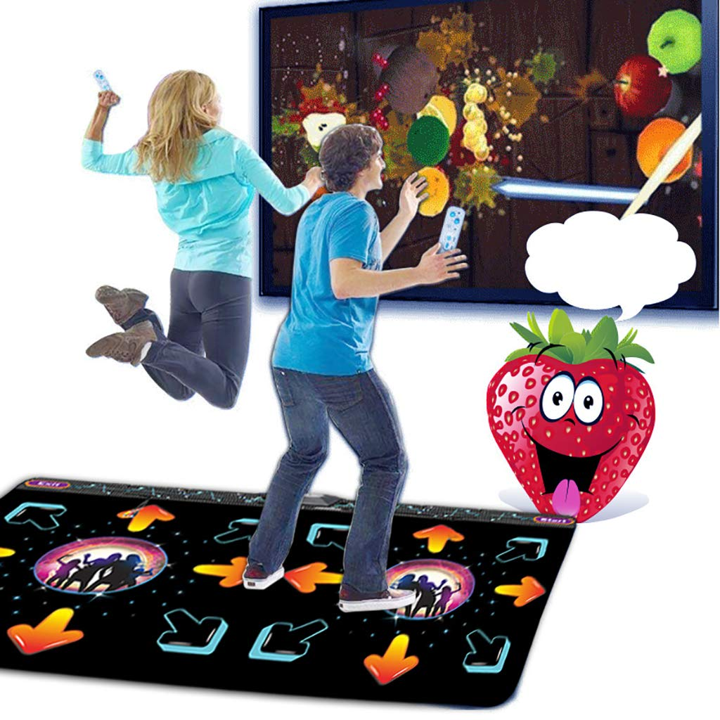 WEWE Children Dance Pad,Thickened 11mm Wireless Dance Mat Fitness Game Dance Revolution Play Mat Hd Tv Computer Dual-c 166x93cm(65x37inch) by WEWE (Image #2)