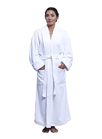 Boca Terry Womens Robe - 100% Cotton Shawl Collar Velour Bathrobe for Women  at Amazon Women s Clothing store  Terry Velour Bathrobe f3489f1de