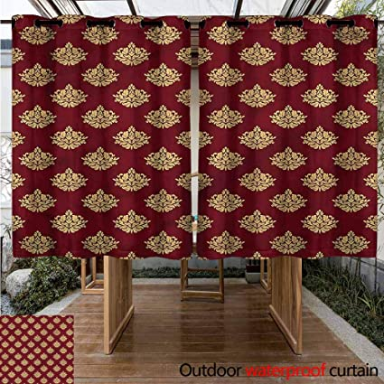 Amazon.com : Sunnyhome Curtains for Living Room Damask ...