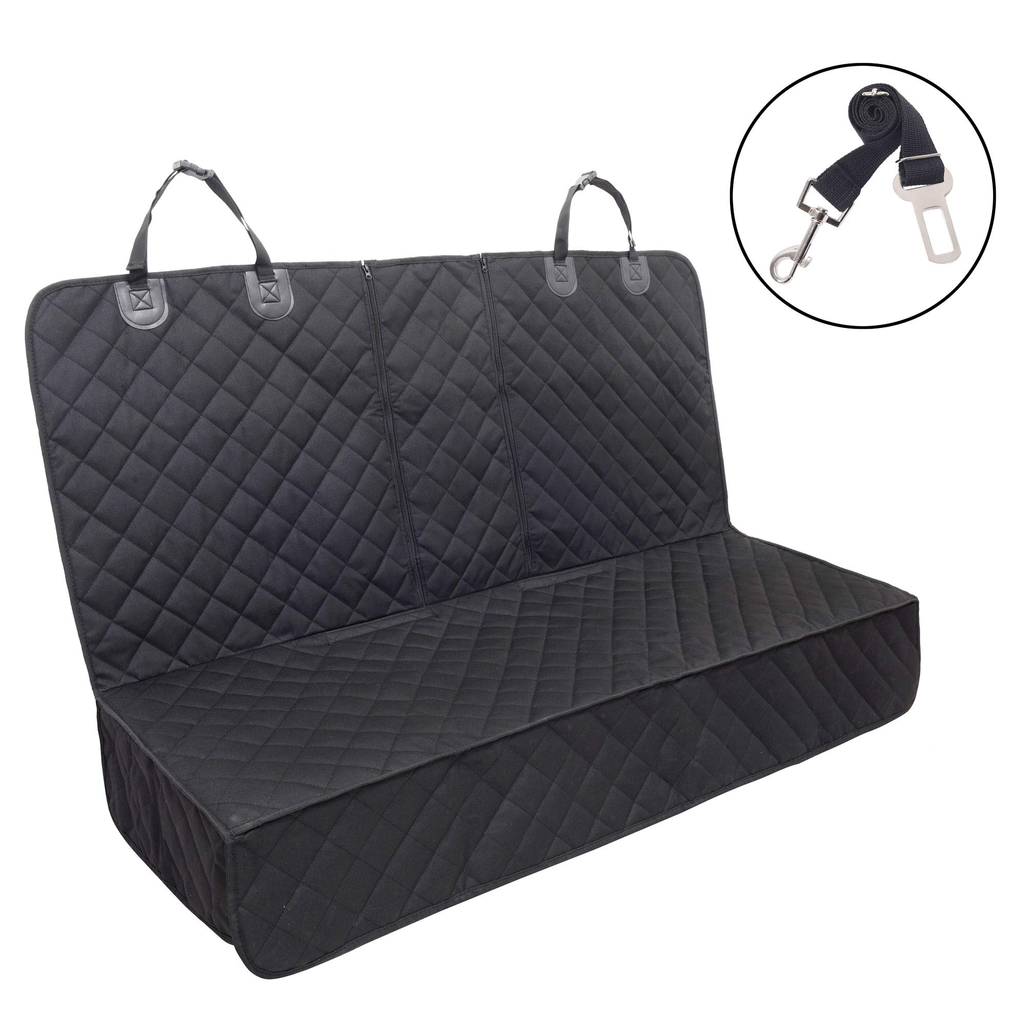 Dog Car Seat Cover ,Waterproof Pet Car Rear Seat Protector Compatible for Central Armrest,Suitable for Most Cars, SUV,Trucks by JSTHT