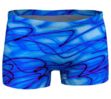 2cad0aeb97 be! yogawear Eco Friendly Workout Shorts Blue Dreams Yoga Shorts Printed  Gym Shorts Boho Artwear