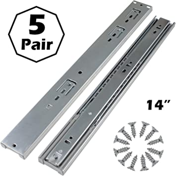 Full Extension Soft Close Drawer Slides 3 Folds Side Mount 1-pair 10-24Inches