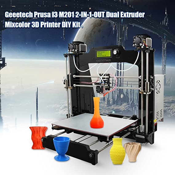 Geeetech Impresora 3D DIY Equipo I3 M201 2-In-1-Out Doble ...