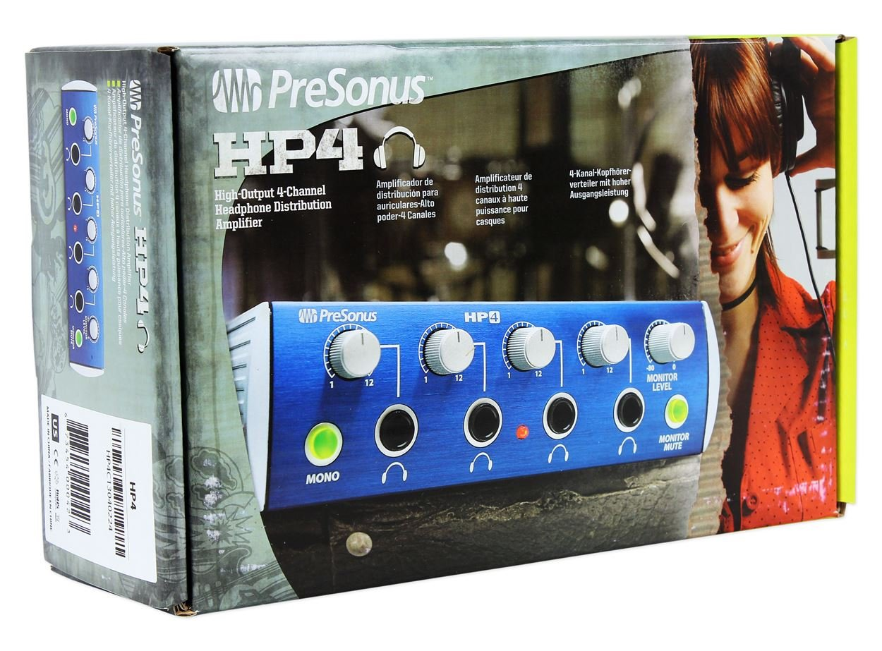 Amazon.com: Presonus HP4 4 Channel Headphone Amplifier Monitoring System HP-4 + Headphones: Musical Instruments