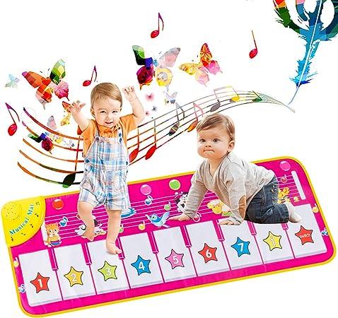 AOYMJRS Alfombrilla musical, Alfombra para Piano, Alfombrilla Infantil para Niños Juguetes con 9 Teclado,Tamaño (39 * 14 Pulgadas) Divertido Tapete de ...