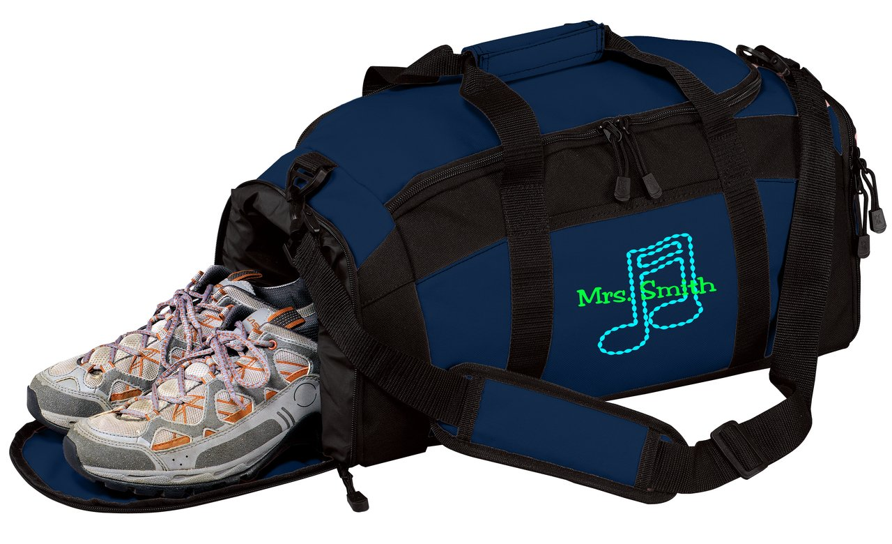 Carolina Blue all about me company Personalized Music Note Gym Sports Duffel Bag
