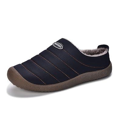 b2068757132c Sporzin Warm Hausschuhe Herren Damen Plüsch Bequem Gefüttert Winter  Pantoffeln Rutschfeste Freizeit Outdoor Indoor Schuhe