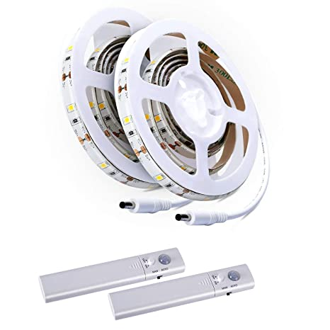 Aled Light 2 Pcs Led Strip Rope Light Kit Tape Light Stair