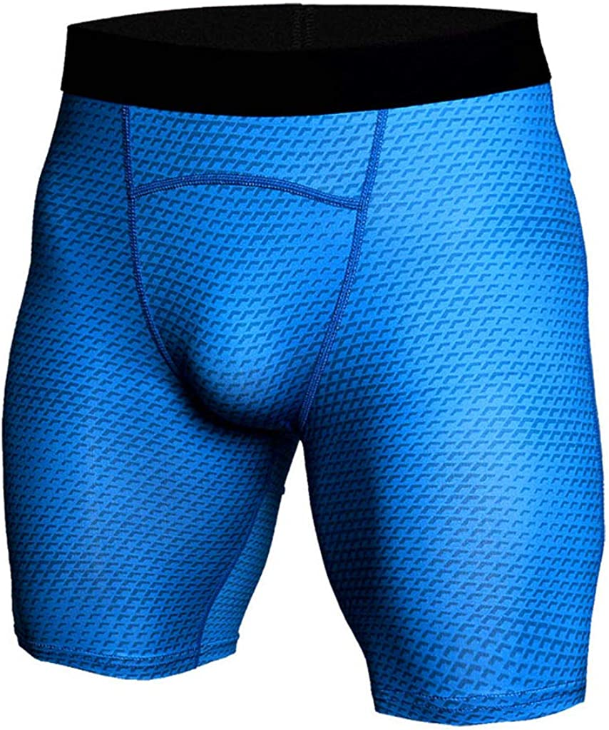 Mens Snake Skin Printed Performance Compression Shorts Stretch Pockets Quick Dry UV Protection Running Tights