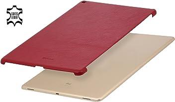 """StilGut Cover, Custodia in vera pelle per Apple iPad Pro 12.9"""" (2015), Backcover adatto anche a Smart Keyboard, Rosso"""