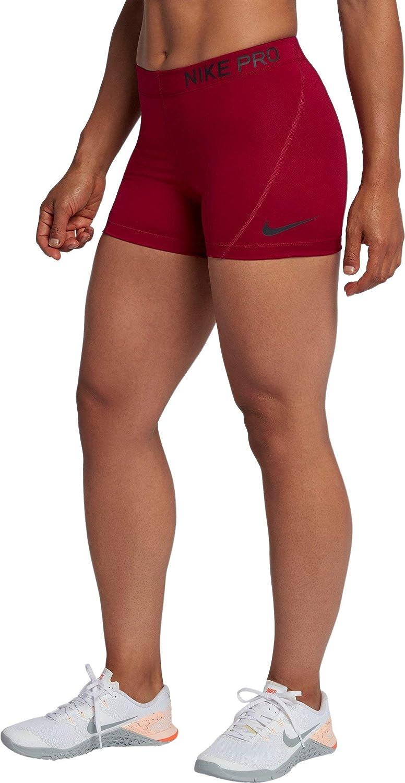 calcetines Interpretación Decrépito  Nike W NP Short 3 in – Shorts, Women's, Multicoloured (Red Crush/Black):  Amazon.co.uk: Sports & Outdoors