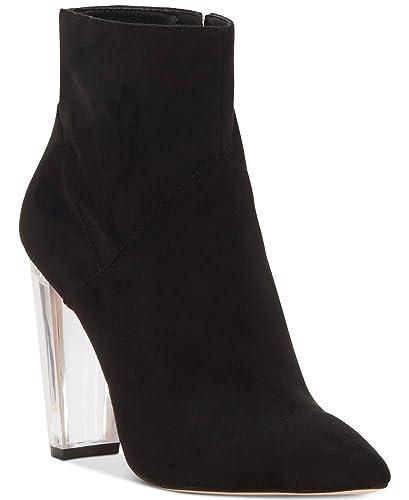 acc81183c8f Jessica Simpson Womens Tarek Microsuede Ankle Booties Black 8 Medium (B,M)