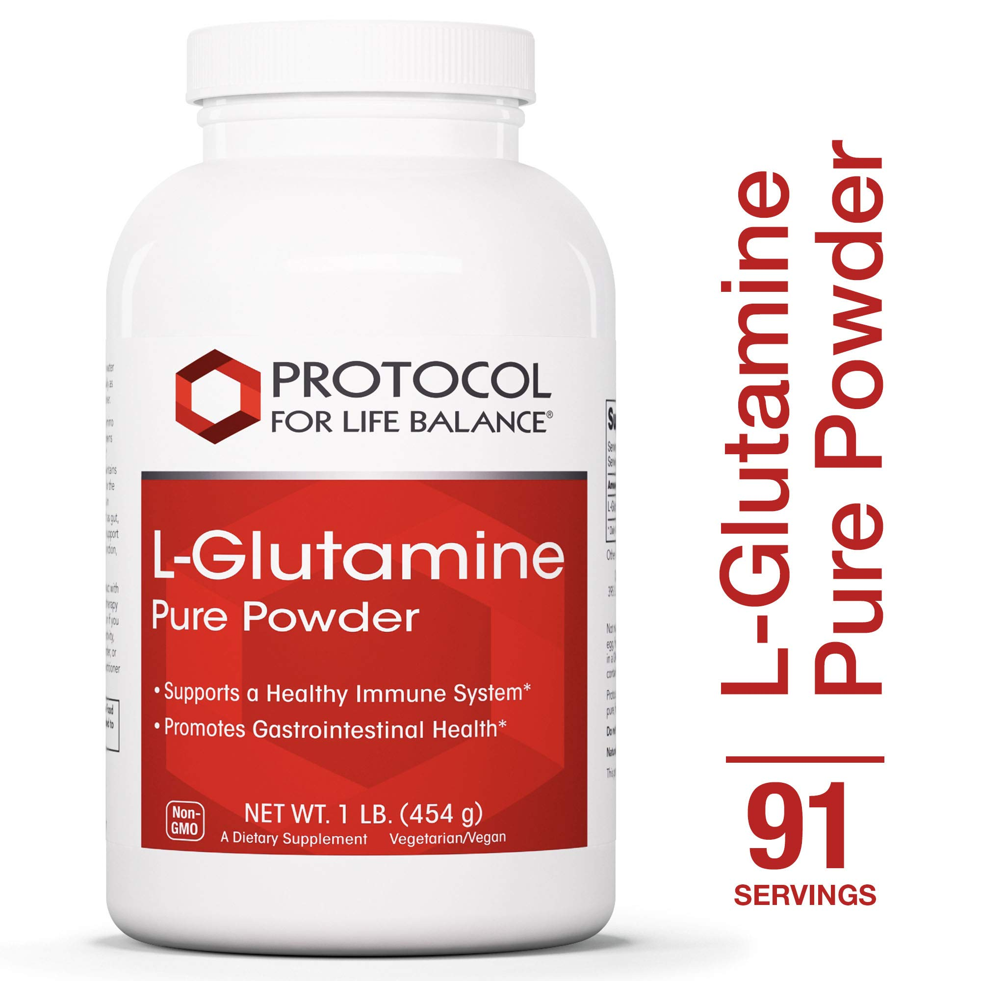 Protocol For Life Balance - L-Glutamine Pure Powder - Supports Healthy Immune System, Promotes Gastrointestinal Health - 1 Pound