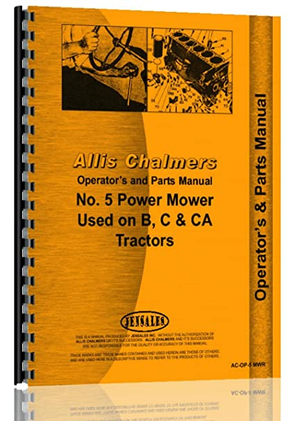 Amazon com: Allis Chalmers B C CA Tractor 5 sickle bar mower ops