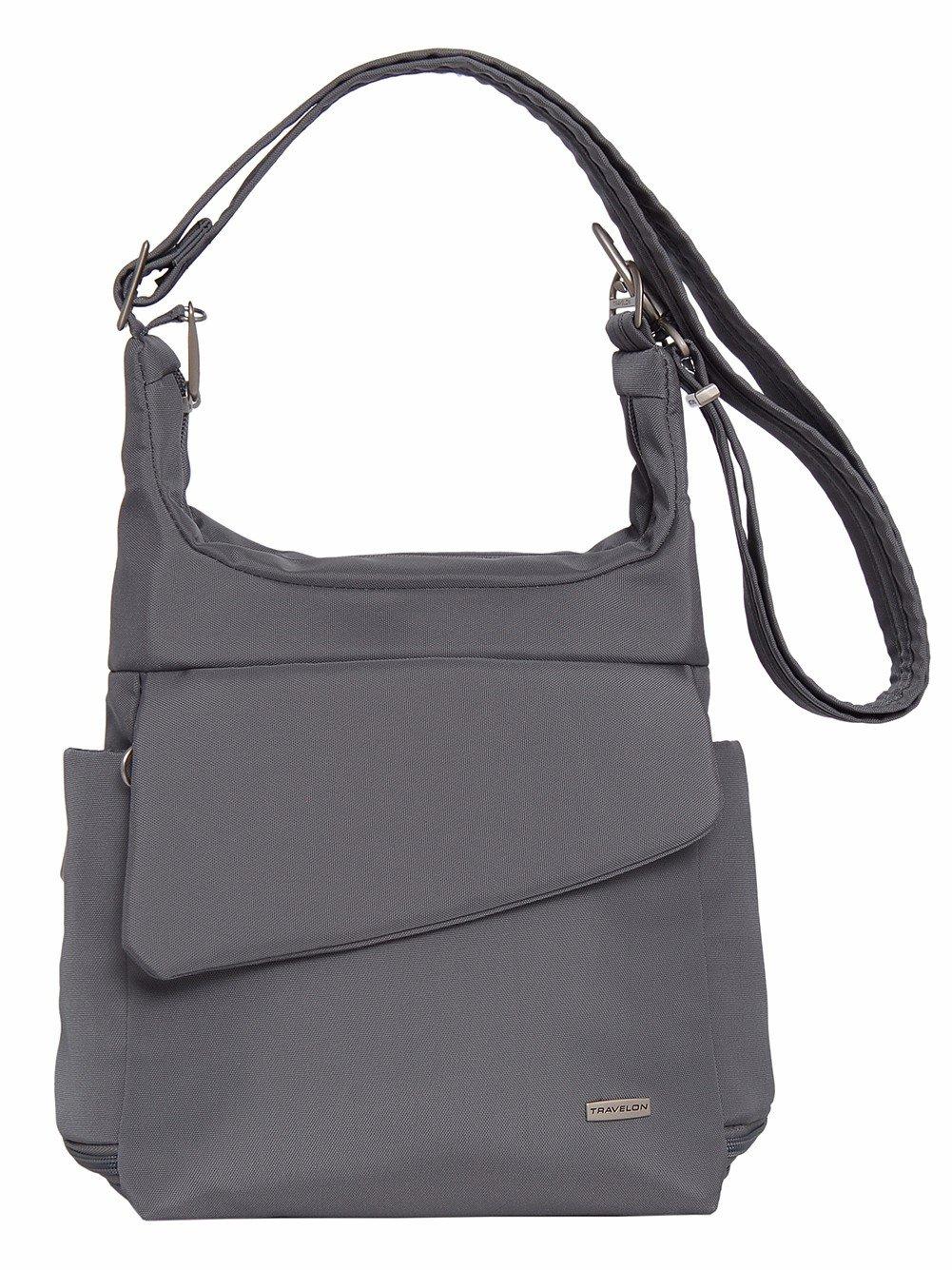 Travelon Anti-Theft Messenger Bag (DARK GREY)