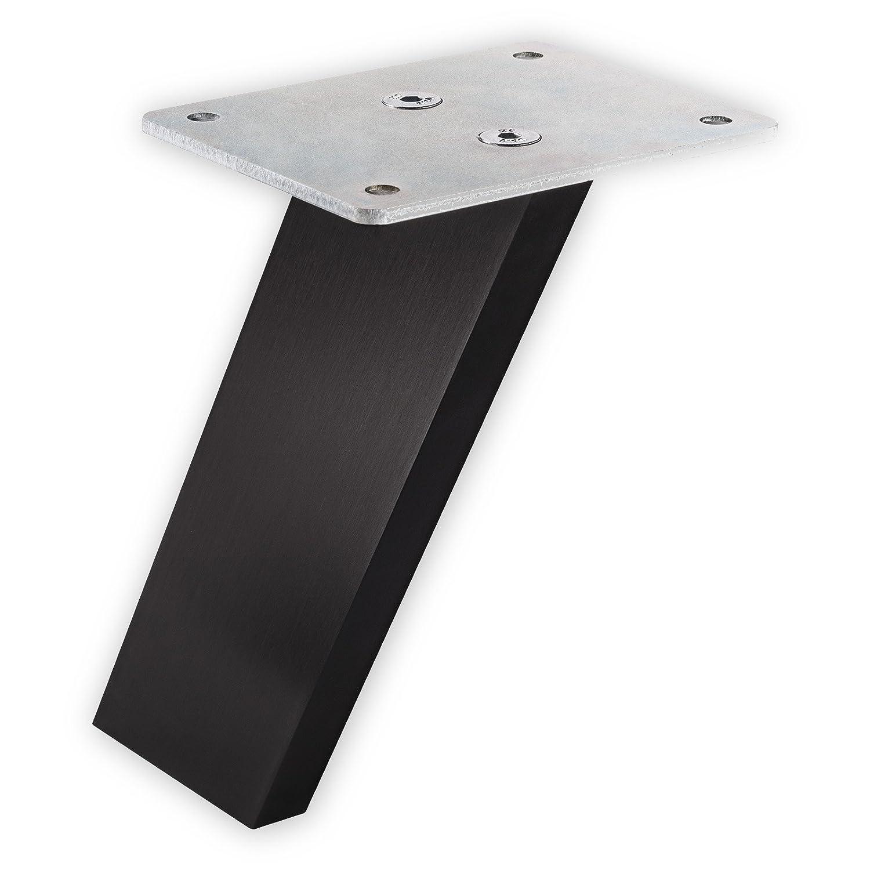 SO-TECH/® Barkonsole COUNTER Alu massiv schwarz eloxiert fein geschliffen Thekenfu/ß Tresenkonsole Bar-Konsole Design trifft auf Funktion H/öhe 178 mm schr/äg 60/°