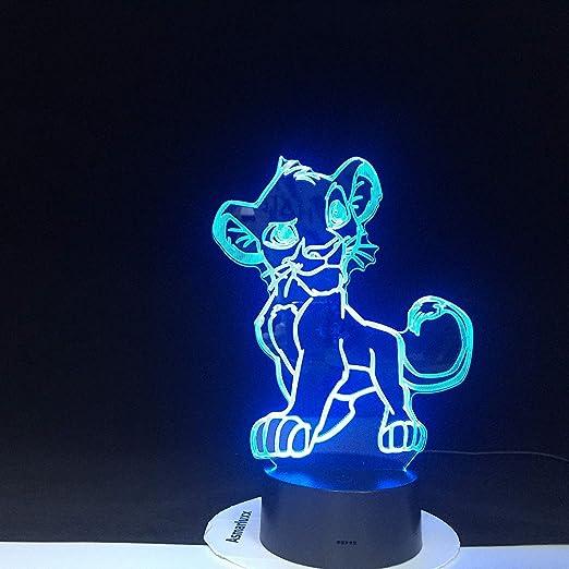 Bande Dessinée Veilleuse Le Roi Lion Simba Led 3d Lumière Couleurs Changement Nouveauté Lampe Chambre Lampe De Chevet Pour Cadeau De Noël Maison Amazon Fr Luminaires Et Eclairage