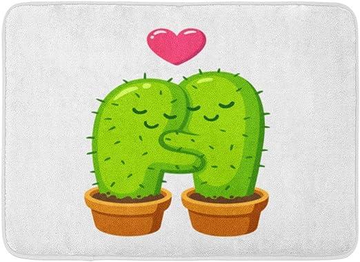 Artyly Tapis Antidérapants Plante Verte Cactus Câlin Dessin