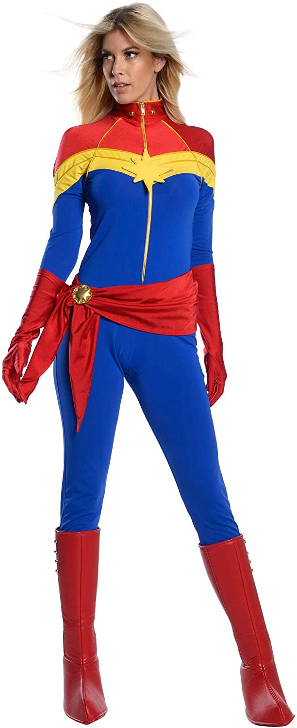 Amazon Com Classic Captain Marvel Costume Adult Captain Marvel Costumes For Women Marvel Cosplay Comic Outfit Clothing I literally am completely blown away by you guys' reception of my fem cap costume. classic captain marvel costume adult captain marvel costumes for women marvel cosplay comic outfit