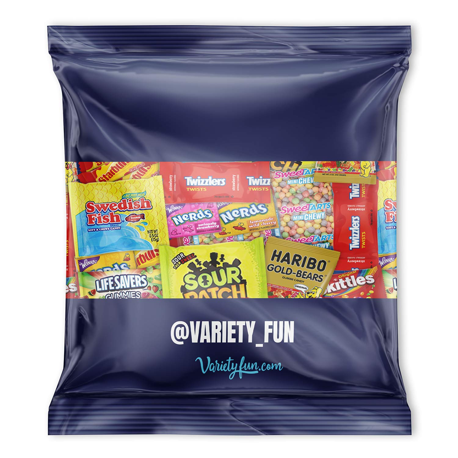 Candy Party Mix Bulk Bag of Skittles Swedish Fish Nerds Haribo Gummy Sour Patch Twizzlers Starburst Mike and Ike and more! by Variety Fun Net wt (48 oz) by Custom Varietea (Image #5)