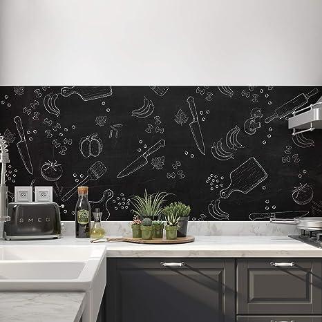Graz Design - Adesivo da parete, per cucina, motivo: gesso ...