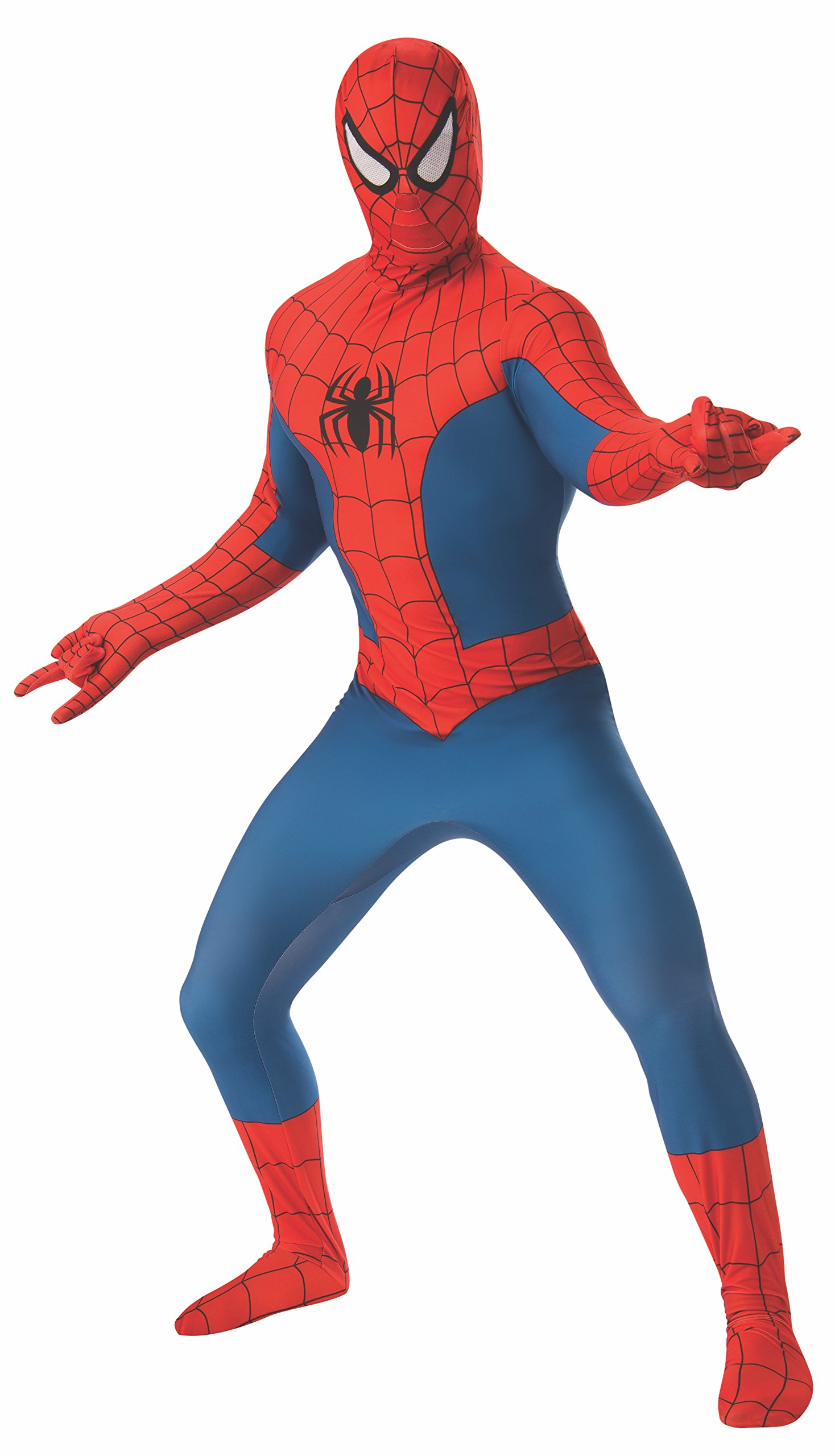 - 71ybq90ukTL - Rubie's Costume Men's Marvel Universe Spider-Man 2nd Skin Costume
