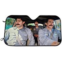 Universal Car Sunshade, Branch Wars The Office Car Sun Shade Cartoon Car Curtains Sun Visor for Car Keep Your Vehicle…