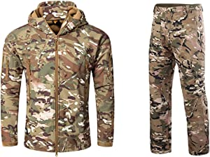 NEW VIEW Hunting Jacket Water Resistant Hooded for Men,Hunting Suit