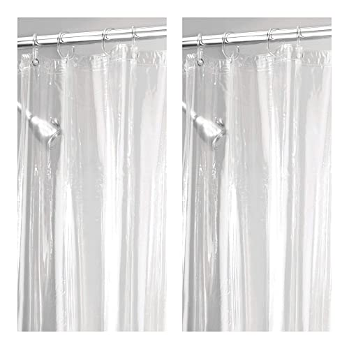Extra Heavy Duty Weighted Vinyl Shower Curtain Amazon Com