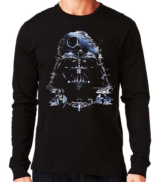 35mm - Camiseta Manga Larga Darth Vader Death Star-Star Wars, Hombre: Amazon.es: Ropa y accesorios