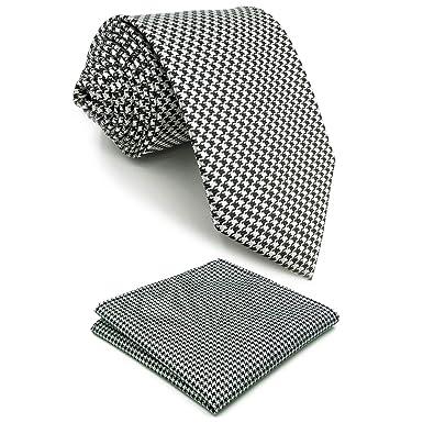Shlax & Wing Negro Blanco Houndstooth Cheques Corbata Corbatas ...
