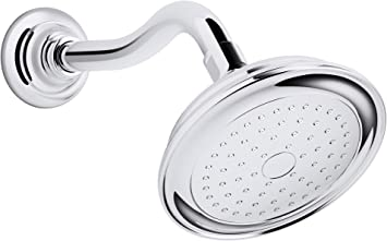 Kohler K 72773 Cp Artifacts Single Function 2 5 Gpm Showerhead With Katalyst Spray Less Showerarm And Flange Polished Chrome Fixed Showerheads Amazon Com