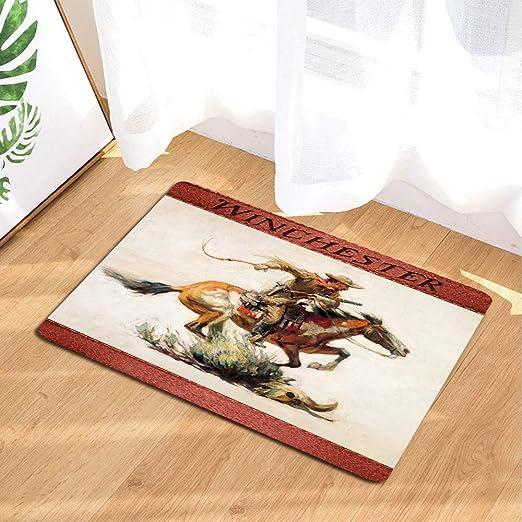 Amazon|JAWO ウィンチェスターバスルームラグ ノンスリップバスマット ...