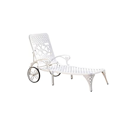 Superieur Amazon.com: Home Styles Biscayne Chaise Lounge Chair, White: Garden U0026  Outdoor