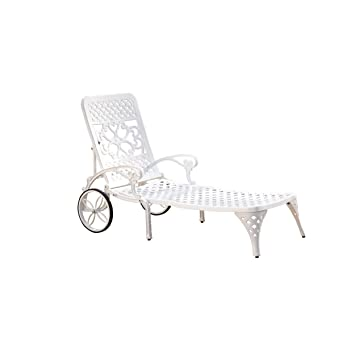 home styles biscayne chaise lounge chair white
