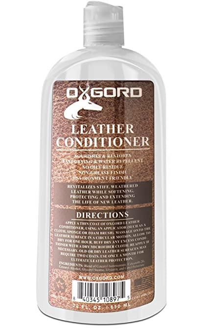 Leather Conditioner - 22oz Kit Restores Leather Vinyl Surface Lotion Cleaner  Protector Moisturizer Care Treatment for 4250ae3be6905