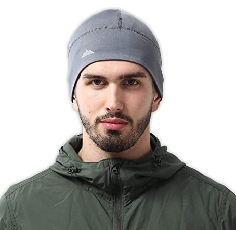 Amazon.com  Skull Cap Helmet Liner Thermal Running Beanie Hat - Fits ... a1d703678ae1